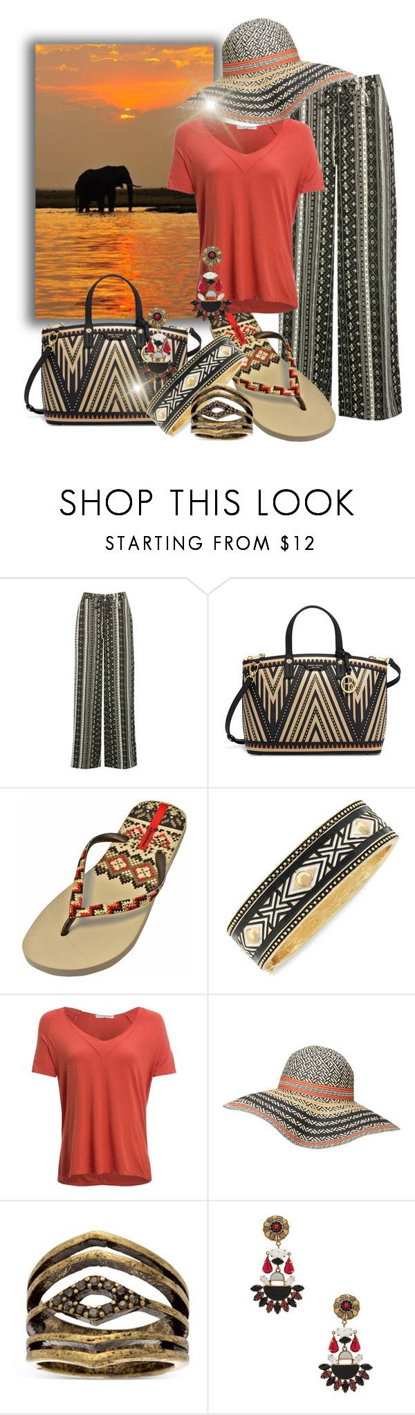 """""""Tribal"""" by fashion-film-fun ❤ liked on Polyvore featuring M&Co, Henri Bendel, IPANEMA, Jessica Simpson, Project Social T, Dorothy Perkins, Steve Madden and Etro"""