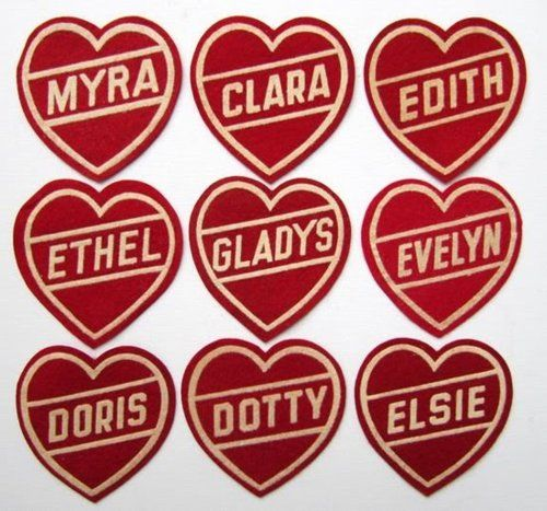 Vintage Hearts: Vintage Heart, Vintage Badges,  Plectron, Future Chicken, Names Badges, Popular Girls,  Plectrum, Delight Things, Heart Patches