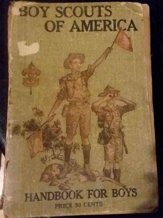 Check out this item in my Etsy shop https://www.etsy.com/listing/518994814/antique-boy-scouts-of-america-1916-17