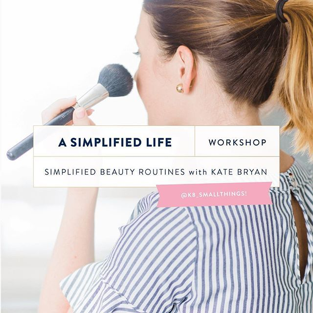 Emily is joined by Kate Bryan, The Small Things Blog, to talk about simplified beauty and style and how to look put together without spending hours getting ready ever.