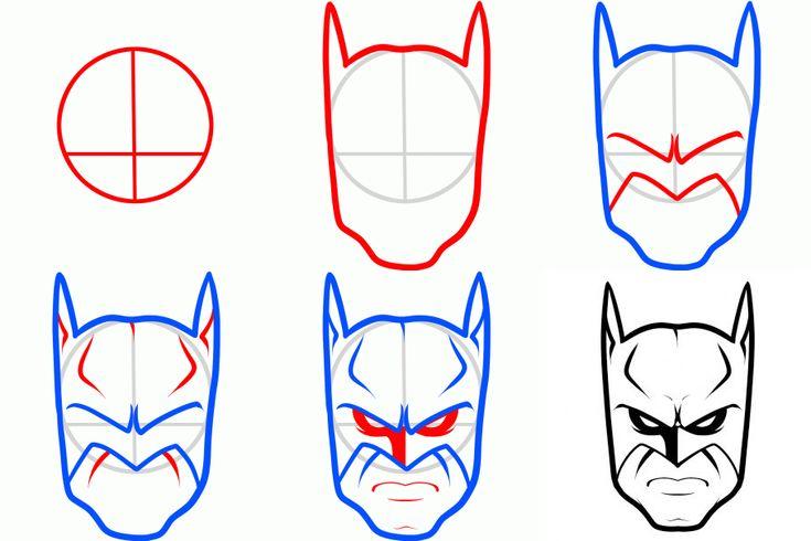 Нарисовать бэтмана по этапно