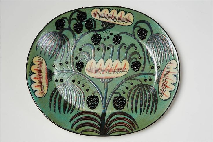 Wall placques by Birger Kaipiainen for Arabia, Finland. 1960's. | From a unique collection of antique and modern ceramics at https://www.1stdibs.com/furniture/dining-entertaining/ceramics/