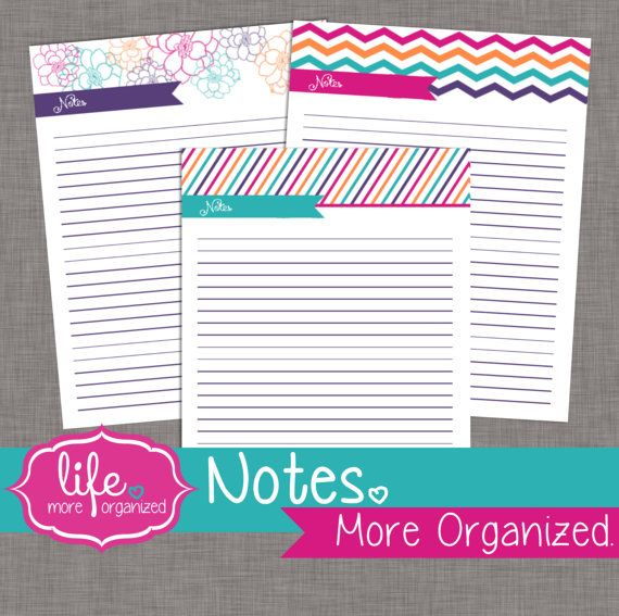 notes  more organized