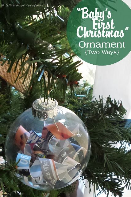 """Little Dove Creations: diy """"baby's first Christmas"""" ornaments #babysfirstChristmas #diy #ornament"""