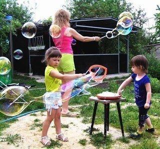 Рецепт гигантских мыльных пузырей - Поделки с детьми | Деткиподелки
