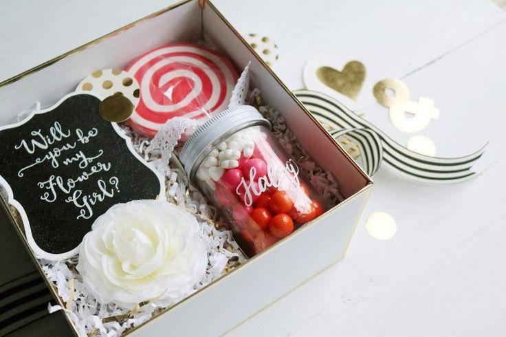 flower girl proposal box ideas