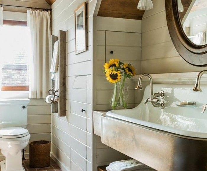 17 melhores ideias sobre Banheiro Lambris no Pinterest  Tela de miçangas no  -> Armario De Banheiro Joli