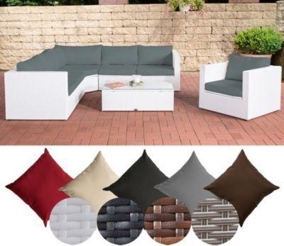Poly Rattan Lounge Set TIBERA, Mit XXL Stauraum (2 X 2er Sofa +