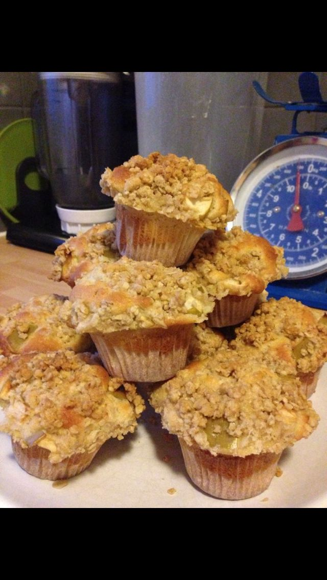 Apple crumble muffins - thanks Mary Berry!