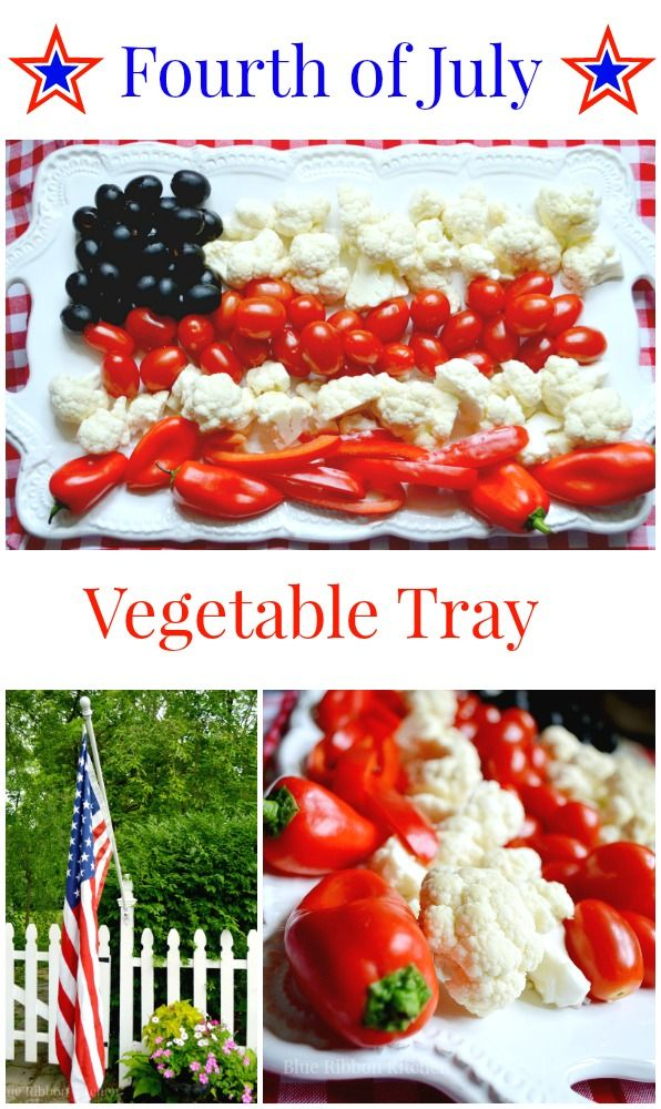 Blue Ribbon Kitchen: Patriotic Vegetable Flag. A fun Fourth of July veggie tray. Great snack for a crowd this summer!!