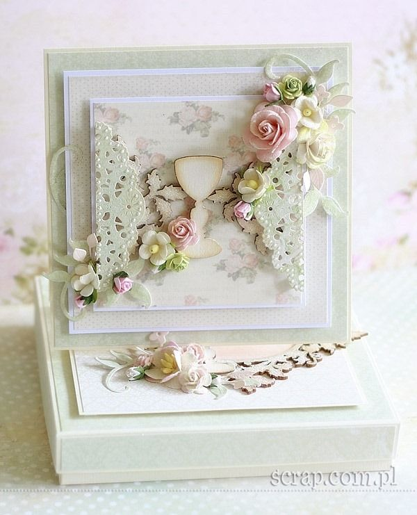 First Communion - card and box