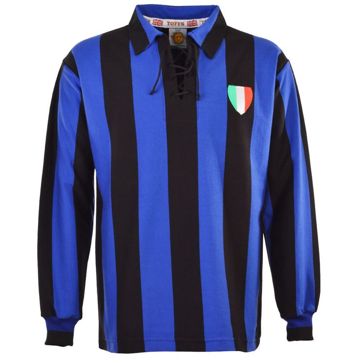 Show details for Internazionale (Inter Milan) 1950s Retro Football Shirt