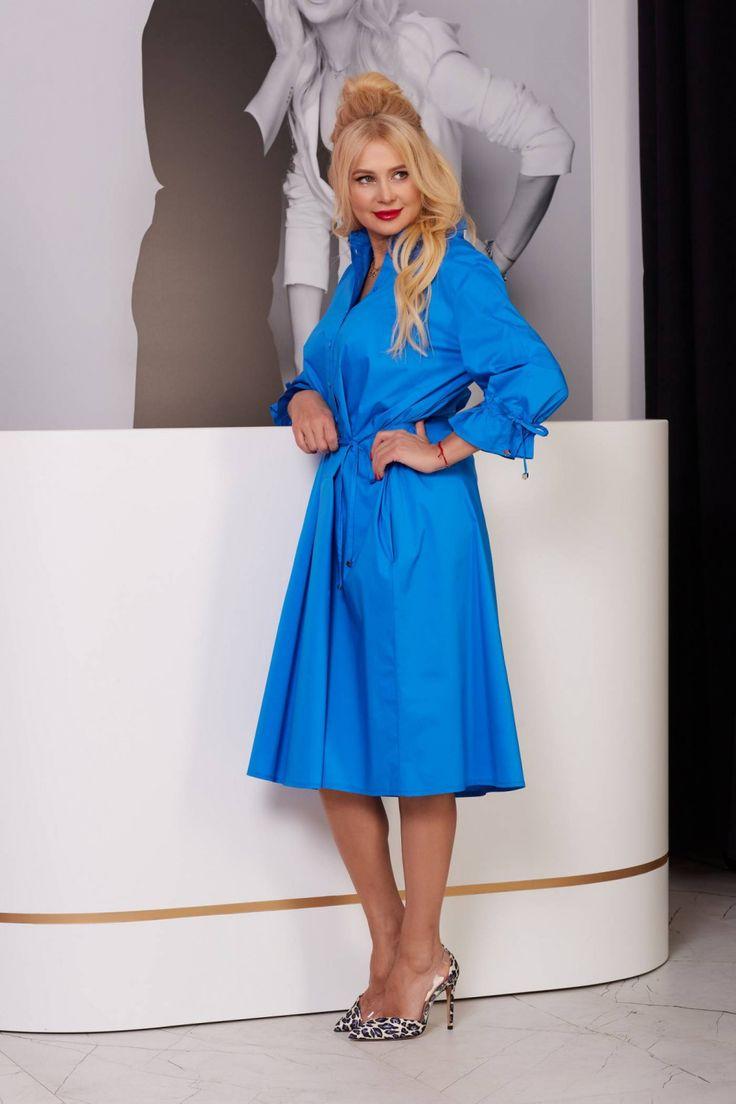 Синие платья 44 размера из Белоруссии. На фото - модель ...