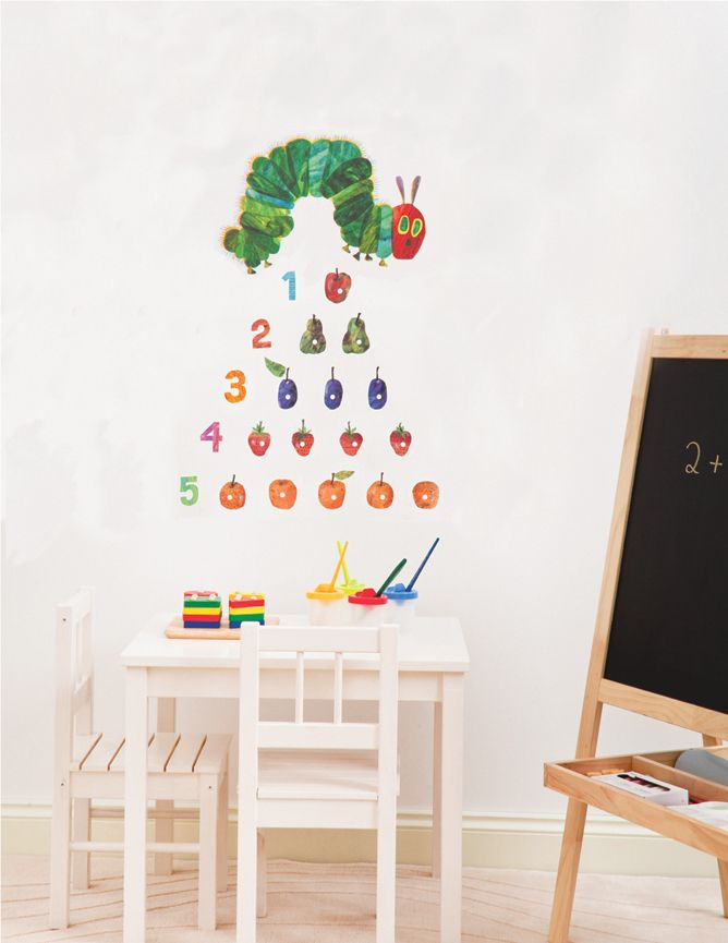 1000 images about 123 s on pinterest count number very hungry caterpillar by eric carle wall stickers