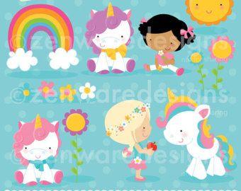 Clipart de unicornios arcoiris arco iris gráfico unicornio