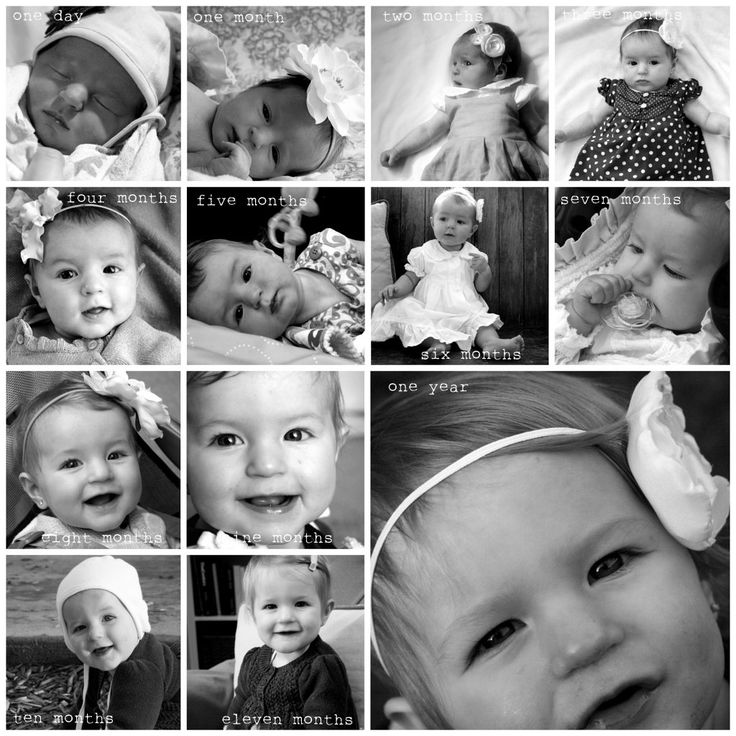 A sweet idea for baby photos.  Photo collage made in Picasa, google's free photo-editing software.
