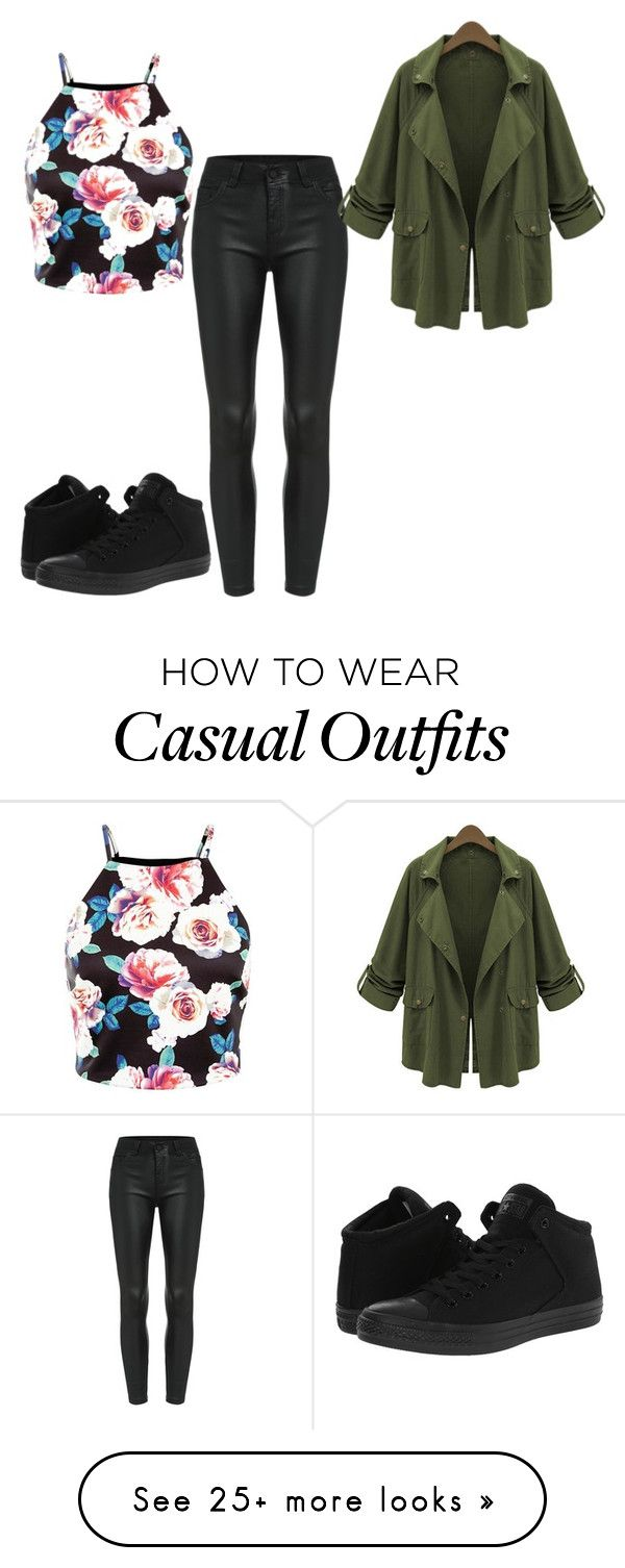 """""""Casual 2"""" by twizzler0106 on Polyvore featuring Converse and Chicnova Fashion"""