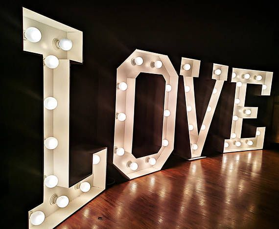 12 40 Mariage Grand Signe Grand Chapiteau Lettres Allument Light Letters Lighted Marquee Letters Light Up Letters
