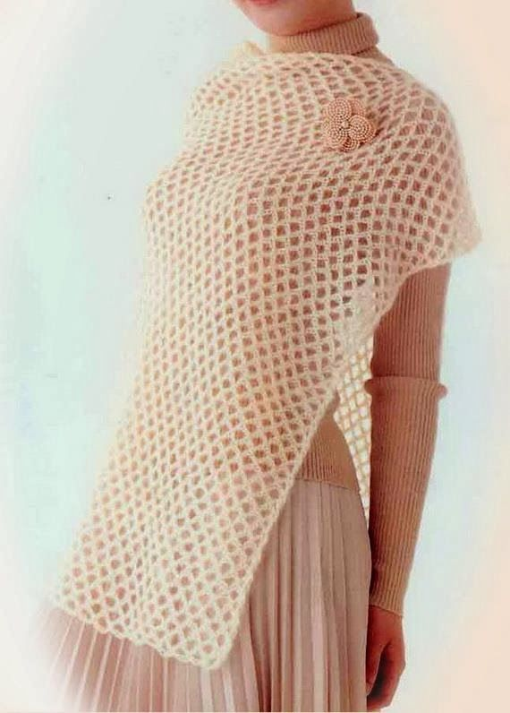 Easy Crochet Shawl Patterns For Beginners : 17 Best images about Crochet: Scarf, Shawl, Wrap on ...