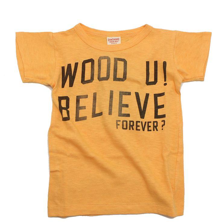 DENIM DUNGAREE(デニム&ダンガリー):テンジクラクガキTシャツ 10Y黄 の通販【ブランド子供服のミリバール】