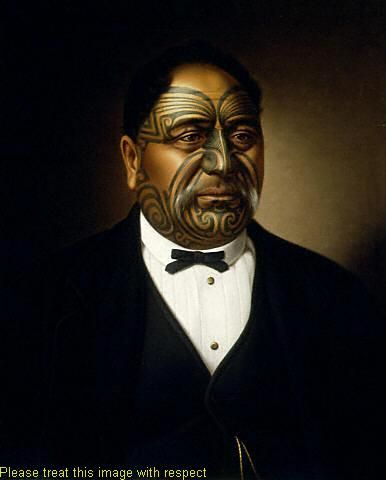 Paora Tuhaere, oil on canvas, painting by Gottfried Lindauer (1878)