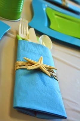 beach: Shower Ideas, Theme Baby, Napkins Rings, Beaches Theme Parties, Beaches Parties, Parties Ideas, Beaches Theme Shower, Bridal Shower, Baby Shower