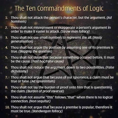The Ten Commandments of Logic meme Memes Pinterest Ten - ten resume writing commandments