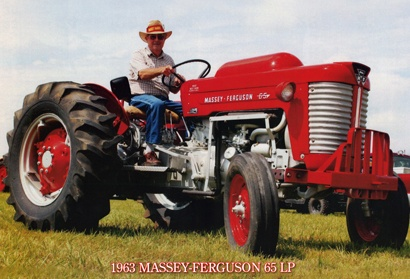 The 1963 Massey Ferguson 65 LP is a high-performing tractor, equipped with a continental 4-cylinder, 176 cid engine. Look for this tractor in the 2013 Classic Farm Tractors Calendar.