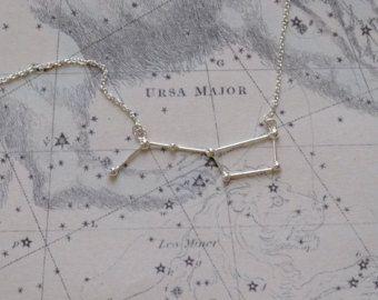 Collar placa de oro de 18k la Osa mayor por Twinklebird en Etsy