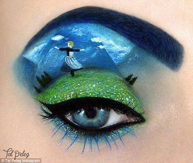 The hills are alive: In this design Ms Peleg recreated an iconic scene from the Sound of M...