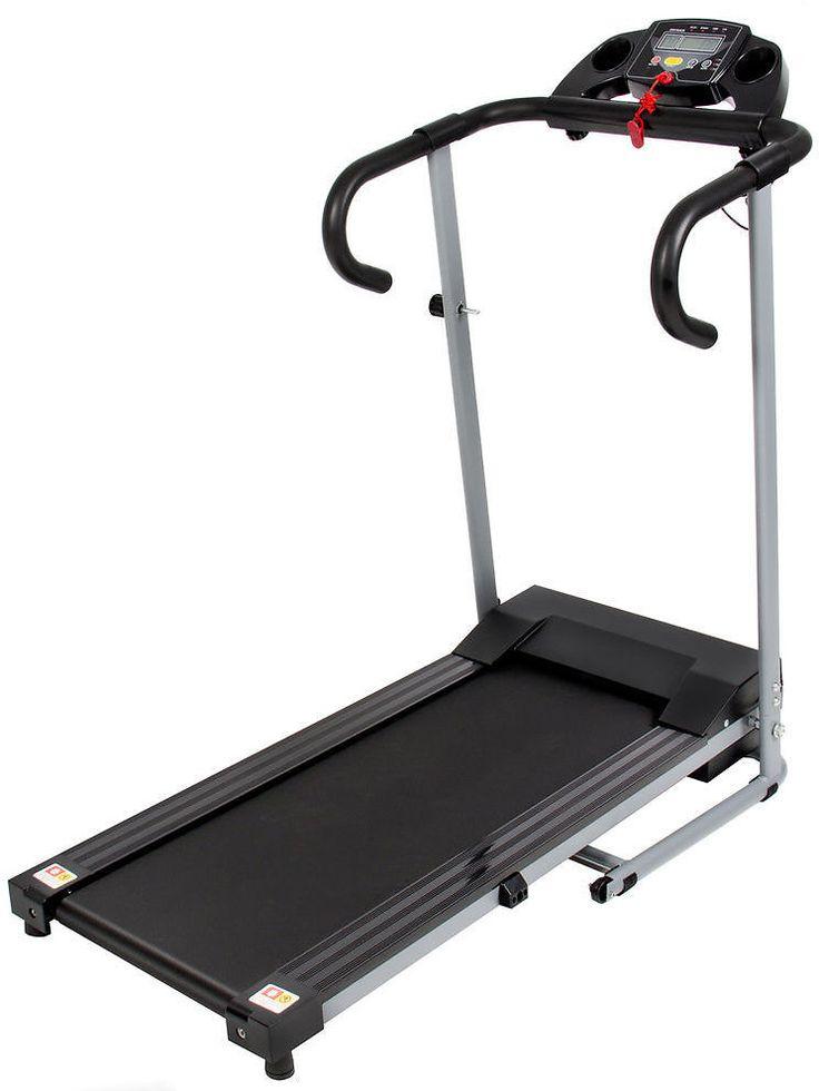 Black 500W Portable Folding Electric Treadmill