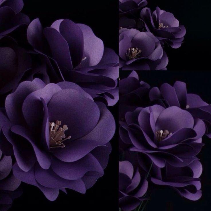 Unique Purple Paper Flowers - Paper Flower Centerpiece - Wedding Ideas - Wedding Decor - Home Decoration by MoniquePaperArt on Etsy https://www.etsy.com/listing/246964417/unique-purple-paper-flowers-paper-flower
