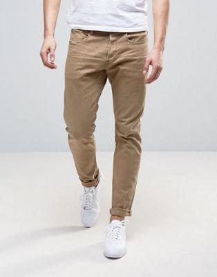 Зауженные джинсы хаки G-Star 3301