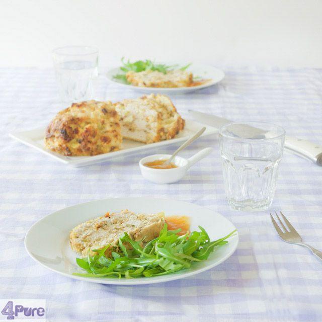 kip gehaktbrood in de oven