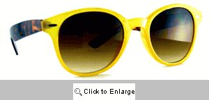 Preppy Wayfarer Sunglasses - 154 Yellow