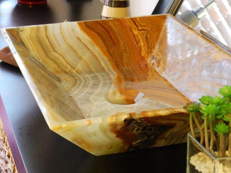 Onyx Store California : Modern natural stone bathroom vessel sink onyx travertine