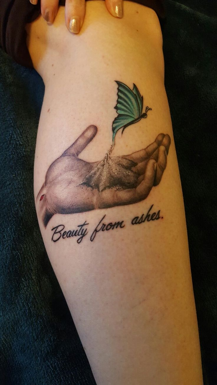 Beauty from ashes tattoo tattoo pinterest ash for Ashes in tattoo ink