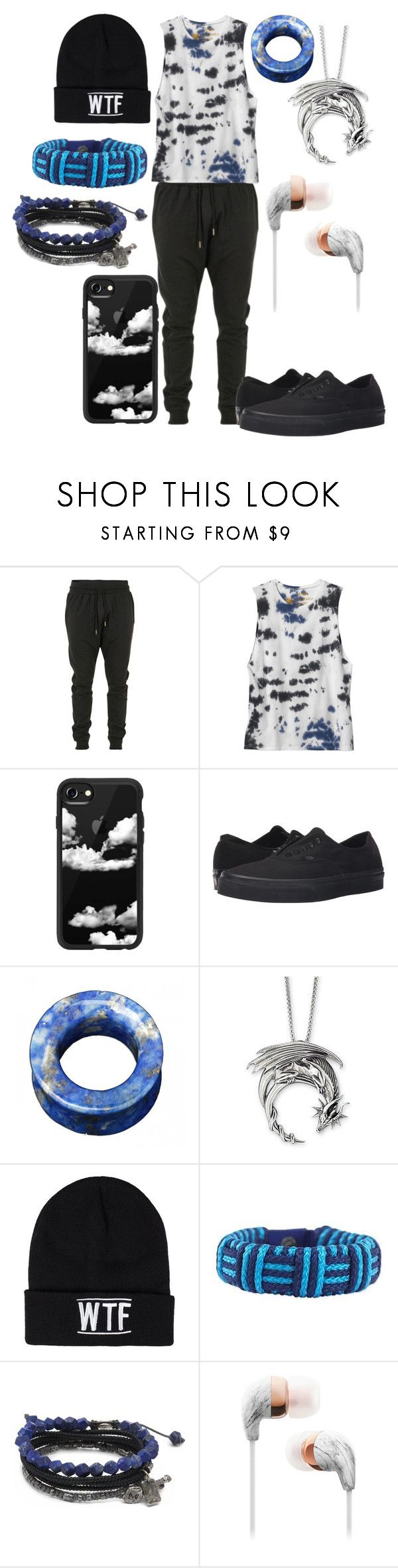 """""""Untitled #748"""" by dino-satan666 ❤ liked on Polyvore featuring Blood Brother, RVCA, Casetify, Vans, Sally&Circle, NOVICA, M. Cohen, men's fashion and menswear"""