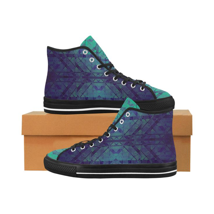 Sci-Fi Dream Blue Geometric design Vancouver H Mens Canvas Shoes by Scar Design. #shoes #style #fashion #sneakers #art #online #shopping #39 #geometric #family #giftsforhim #giftsforher #womensshoew #mensshoes #kidsshoes #boots #scardesign #artsadd #cheapshoes #gothic #skull #plaid #plaidshoes #gifts #pattern #dots #pop #popart #popculture