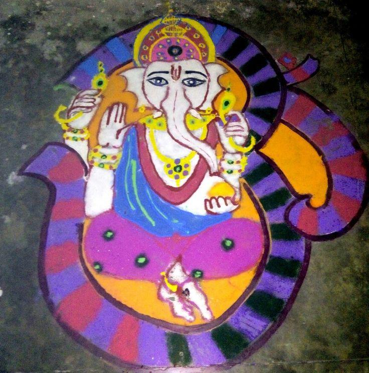 Beautiful rangoli design | Lord Ganesh