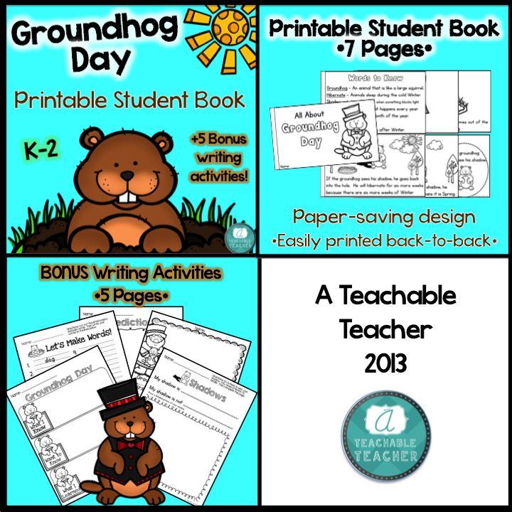 Free groundhog day writing activities