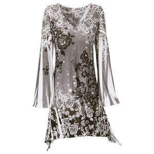 Winter Garden Velvet Dress - New Age, Spiritual Gifts, Yoga, Wicca, Gothic, Reiki, Celtic, Crystal, Tarot at Pyramid Collection