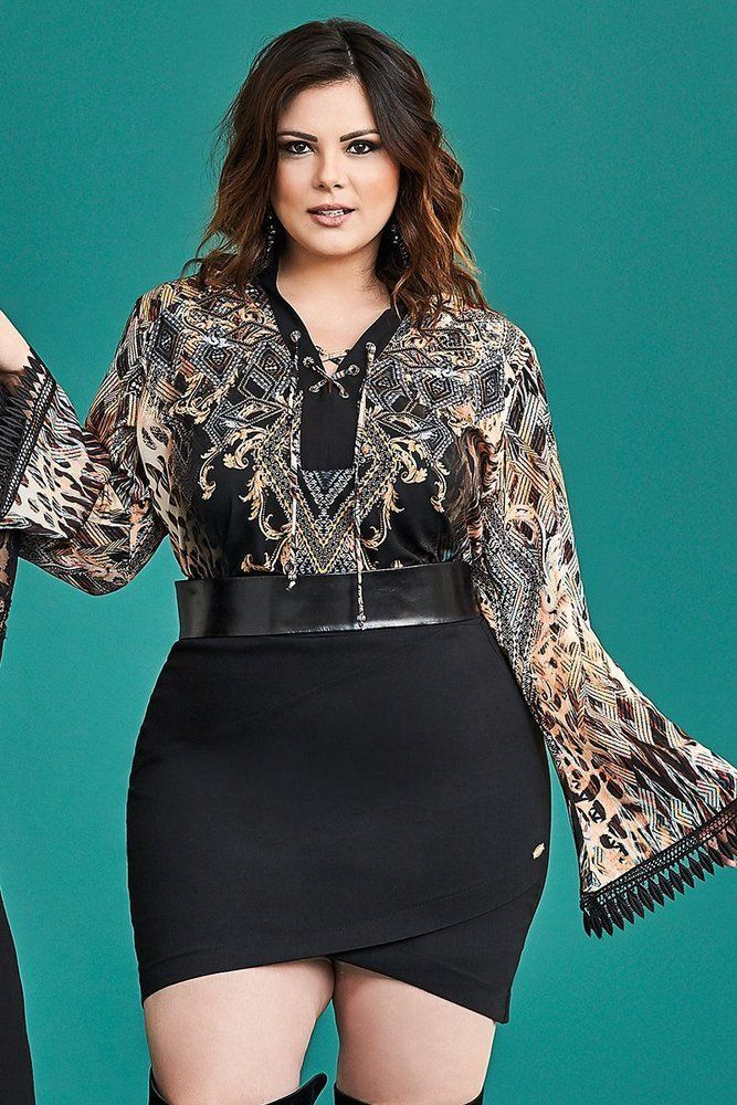 ee11caca8 Blusa Plus Size Madelaine - Outono Inverno 2017 - Confira em  www.daluzplussize.com.br  plussizedresses
