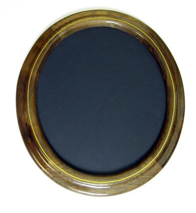 Oval Picture Frames with Gold pinstripe