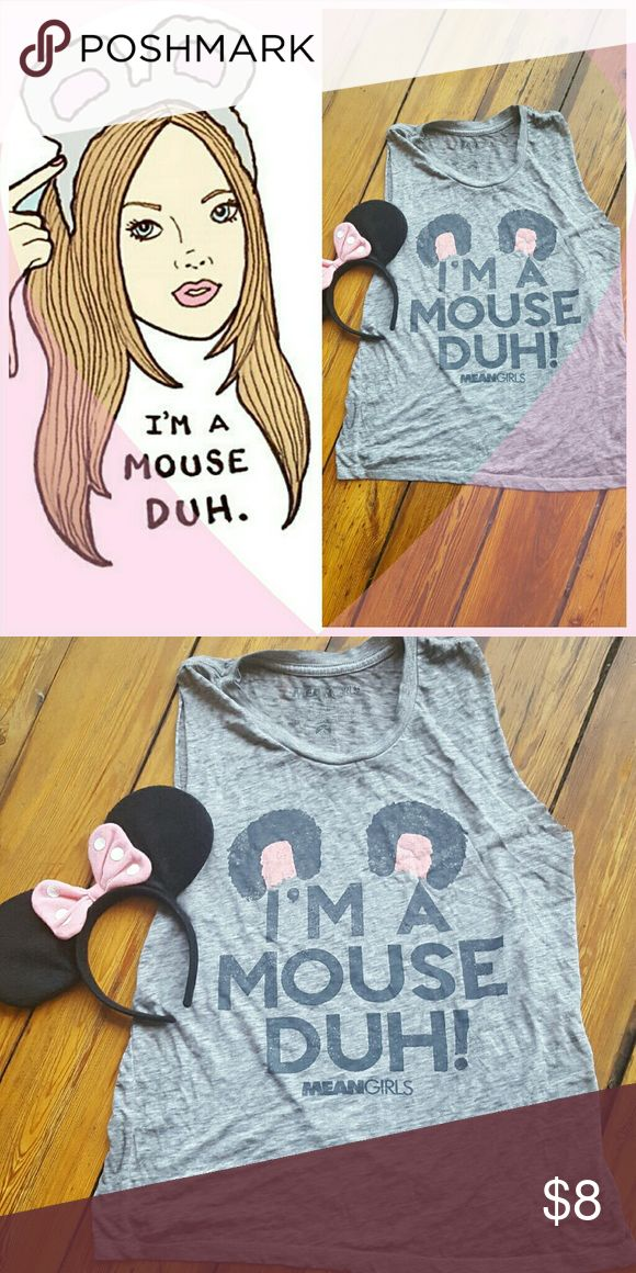 I'm A Mouse Duh Tank Fashion meets functionality with this adorable pop culture tank! Worn once to a costume party. Tops Tank Tops