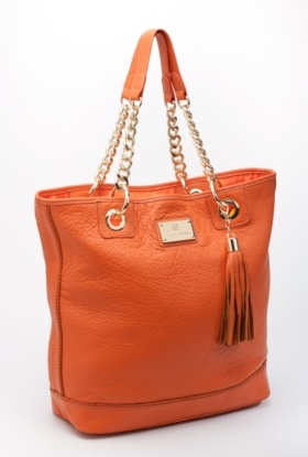 trina turk --- carly tote  Fun ~ Love the orange!  I need to branch out to color in my handbags!