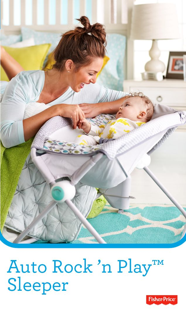 The Fisher Price Auto Rock N Play Sleeper Features A
