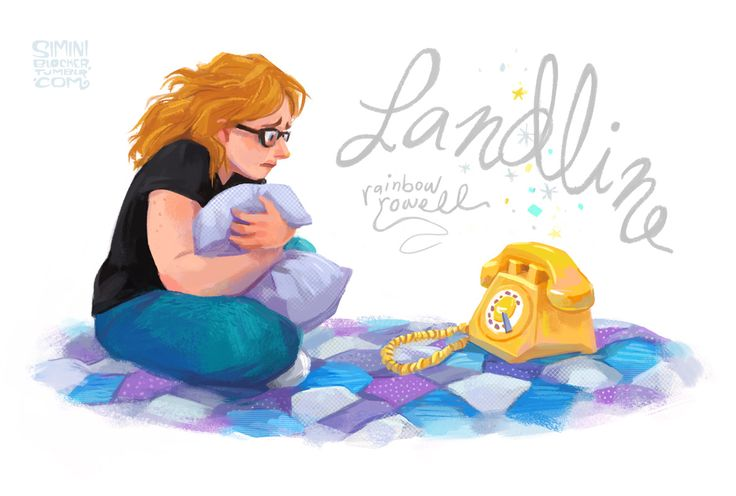 Rainbow's Landline is out in a month! Did you preorder yet? Anyways. Here's Georgie McCool and and a very worrisome telephone. (ETA: release date is July 8 :))