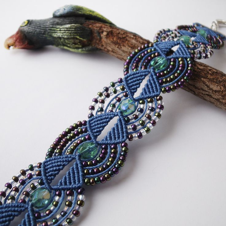 Macrame Bracelet 17 by borysbrytva.devia… on deviantART  – a work of art