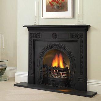 cast iron fire surrounds - Moderner Kamin Umgibt Kaminsimse